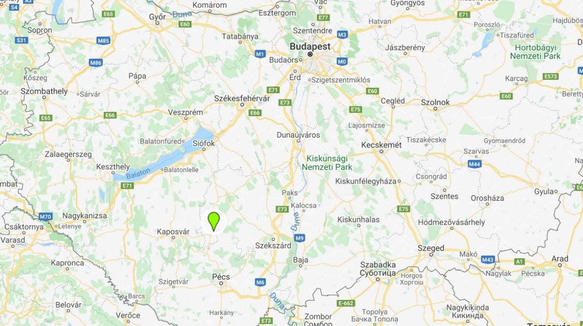 Gunarasfürdő térképen