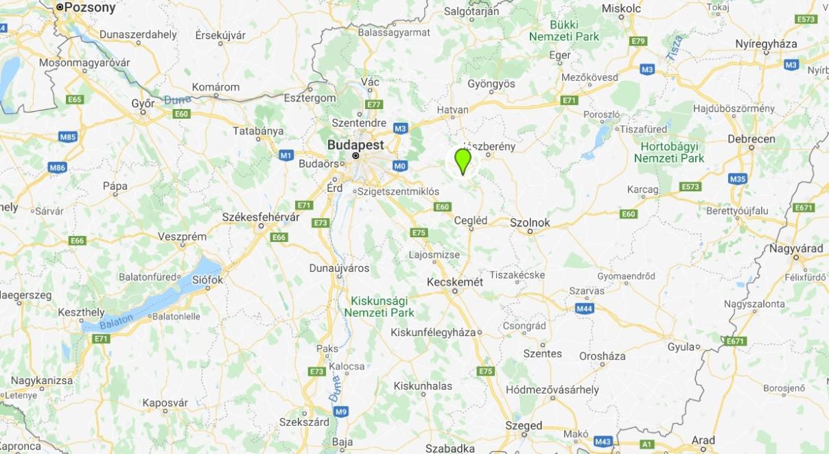 Nagykáta térképen