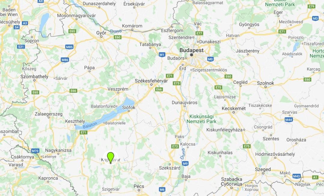 Kaposvár térképen