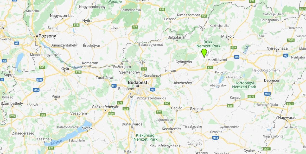 Egerszalók térképen