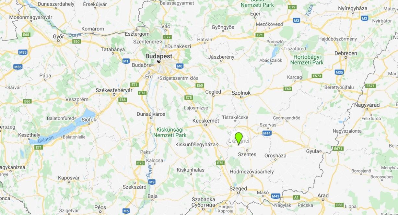 Csongrád térképen