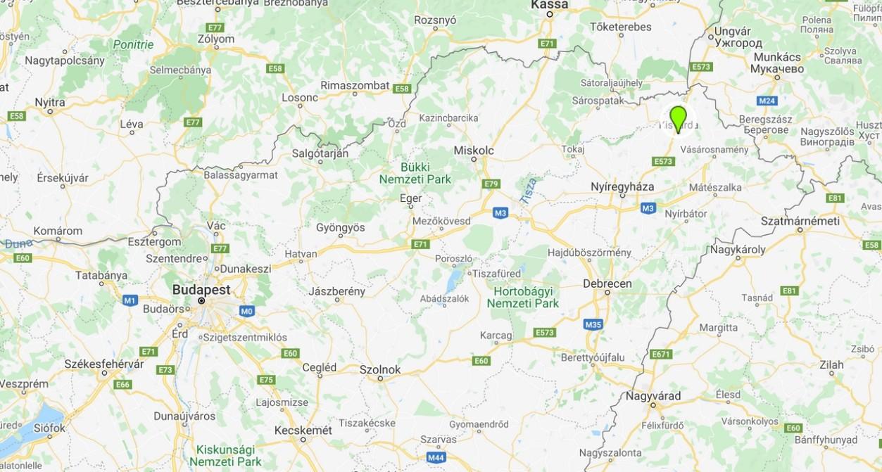 Kisvárda térképen