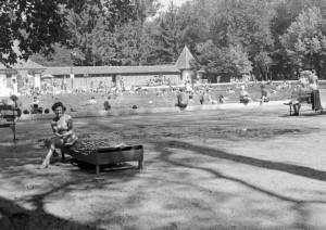 Harkányi Gyógyfürdő 1958-ban Fotó: Fortepan