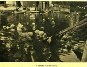 A Hévízi-tó 1906-ban