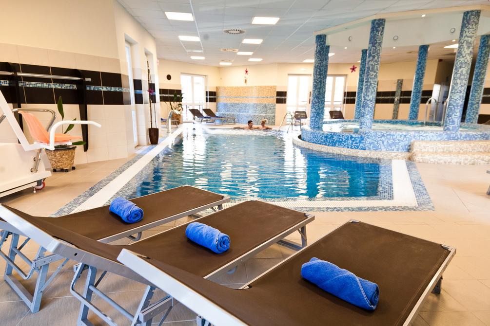 A szálloda Baranya Wellness részlege