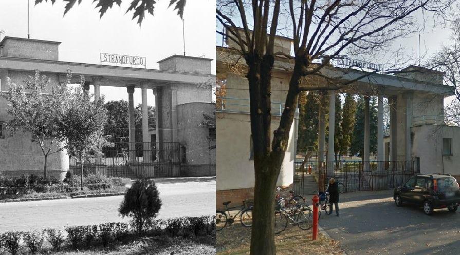 A Csongrádi Fürdő 1968-ban és most.