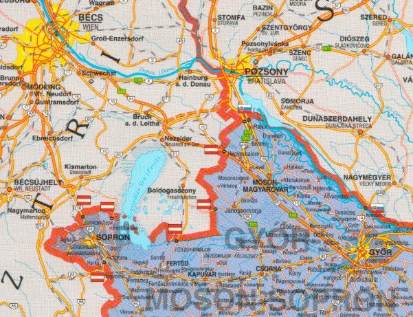 Mosonmagyaróvár térkép