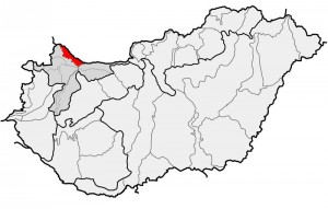 A Szigetköz pirossal jelölve (forrás: Wikipedia)