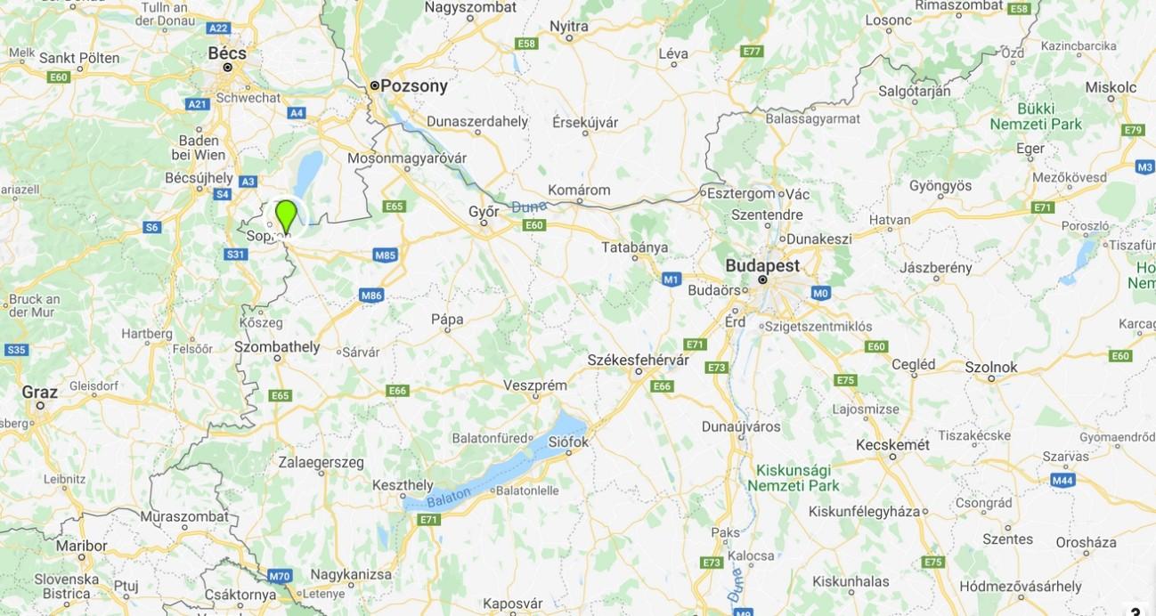 Balf térképen