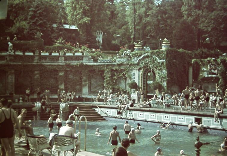 Gellért Fürdő 1940-ben (Fotó: Fortepan)