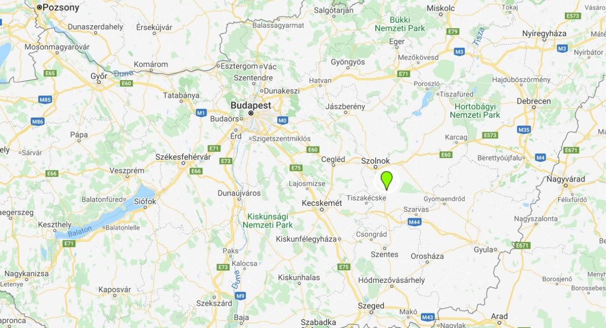 Martfű térképen