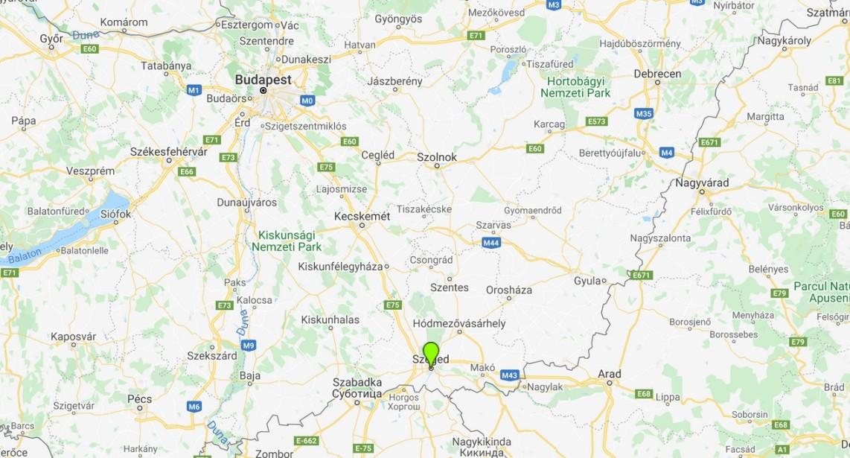 Szeged térképen