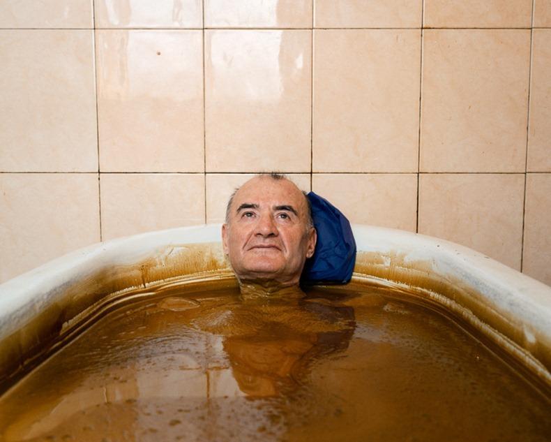 nyersolaj gyógyfürdő
