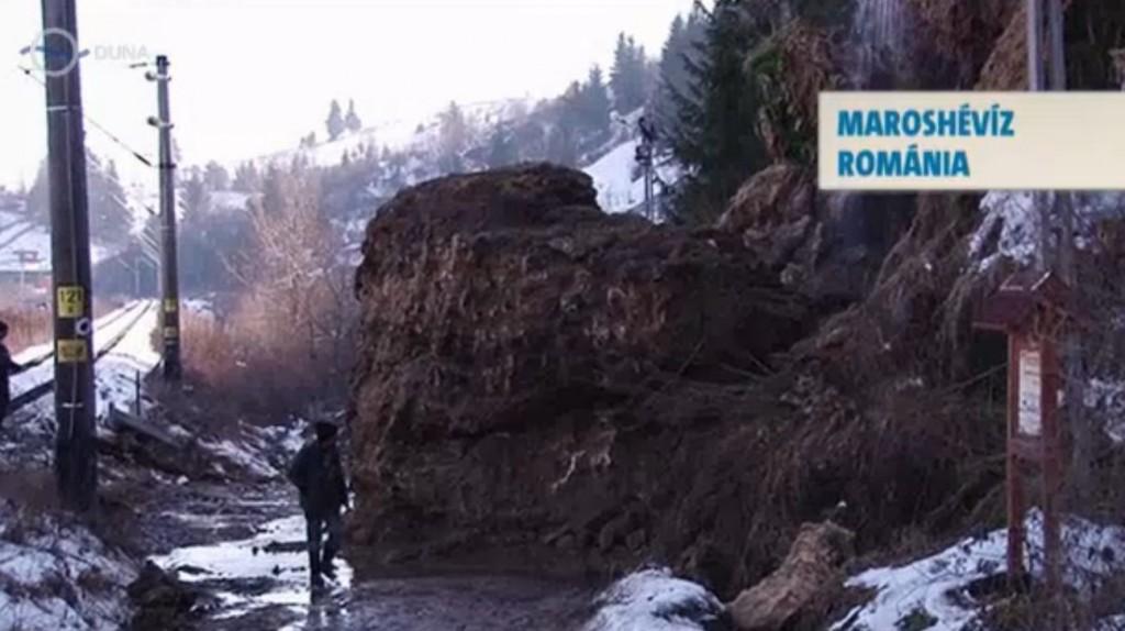 Maroshévíz leomlott termálvízesés