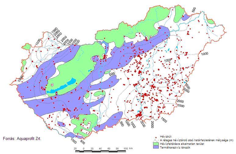 geotermikus térkép termál