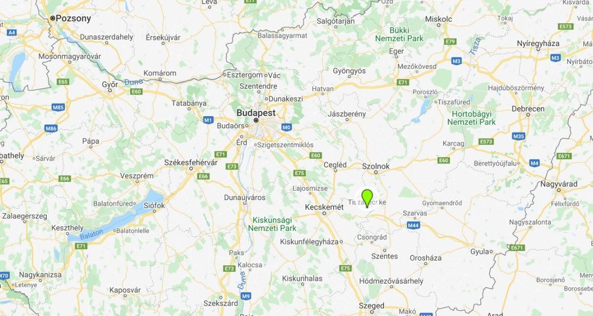 Tiszakécske térképen