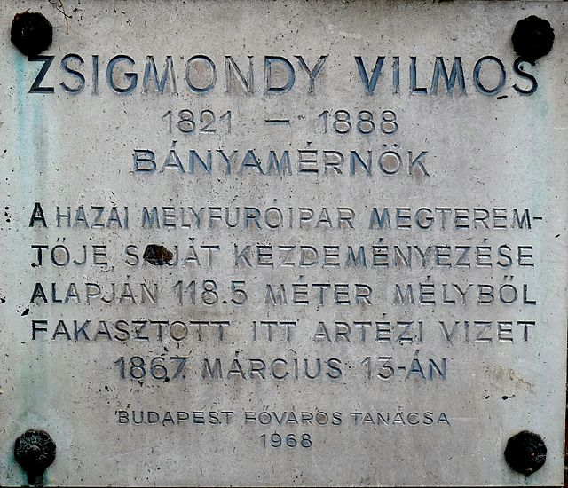 Zsigmondy Vilmos emléktábla