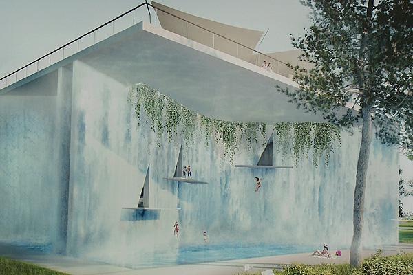 Aquaticum strandfürdő látványterv