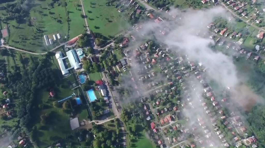 Igali termálfürdő légifelvétel