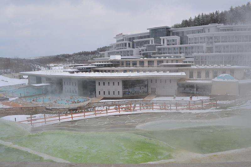 Egerszalók termálfürdő télen