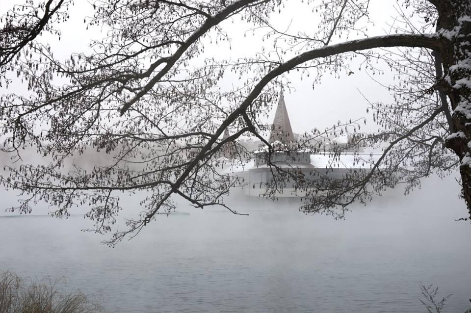 Hévíz gyógyfürdő télen