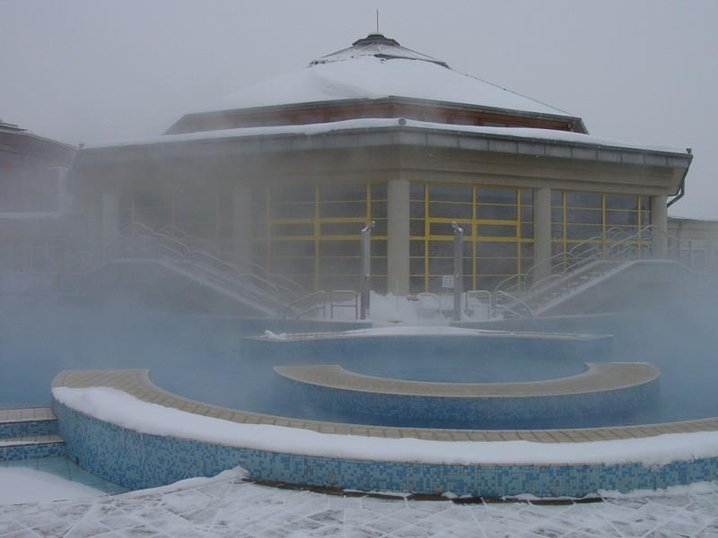 Kiskunmajsa termálfürdő télen