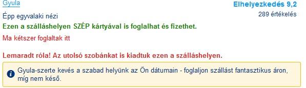 Gyula booking