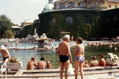 1988-as fürdős fotók: Széchenyi, Gellért, Balatonalmádi