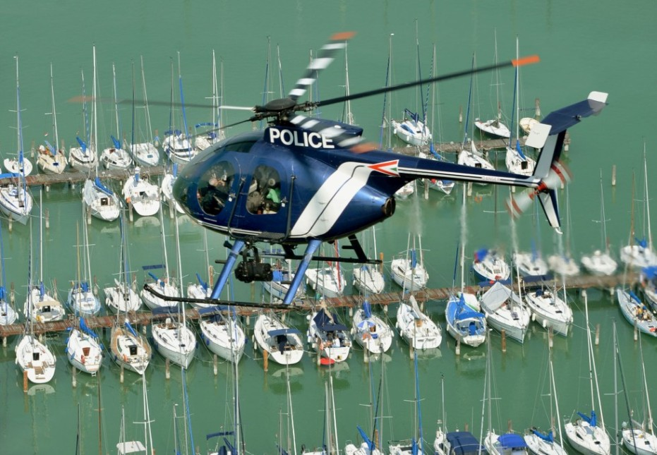 Siófok kikötő helikopter