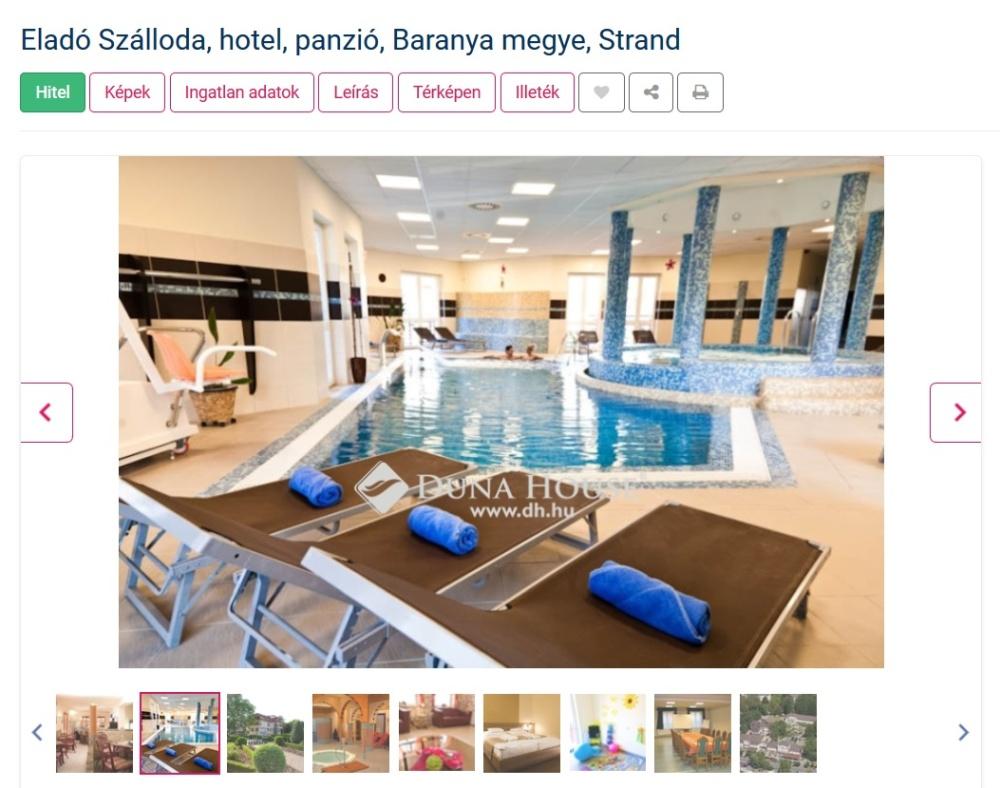 Hotel Baranya eladó