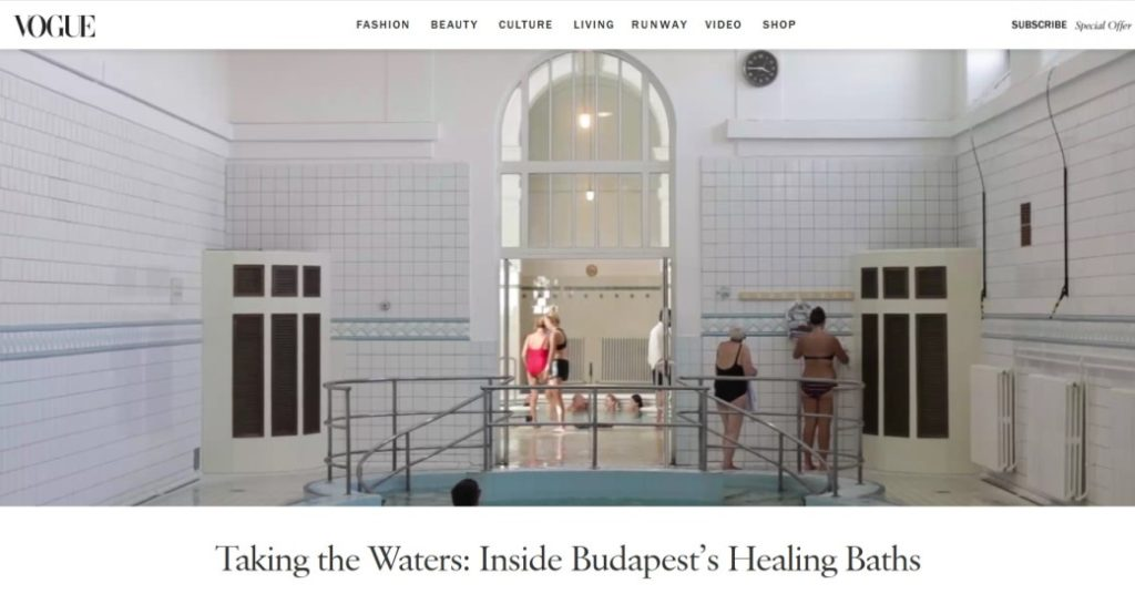 Vogue budapesti fürdők