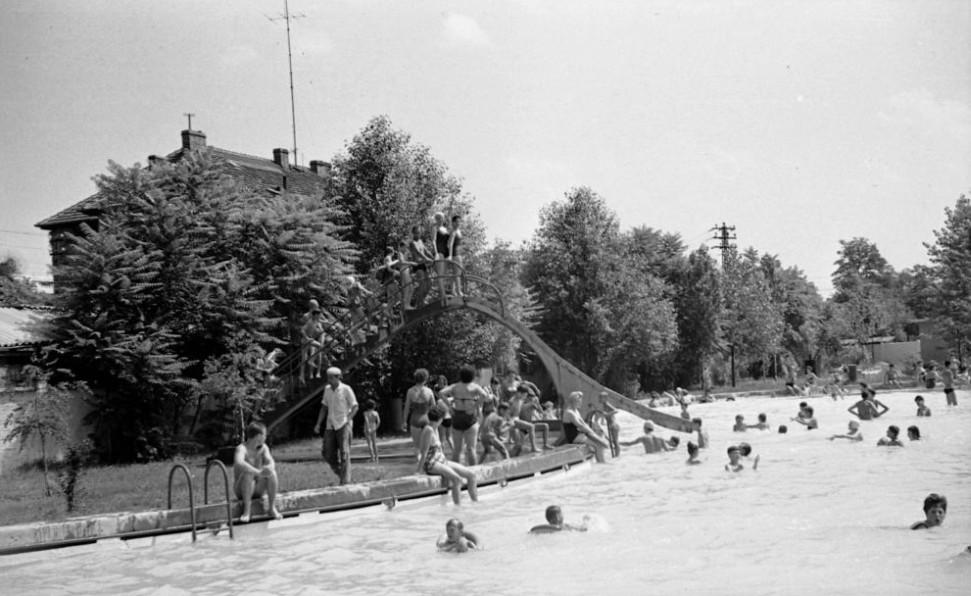 Selyemréti Strandfürdő 1961