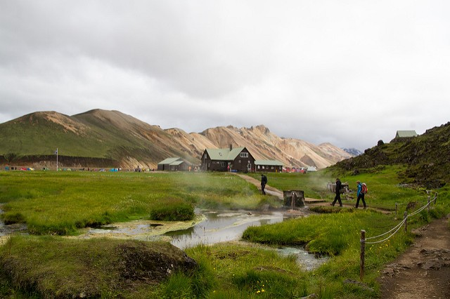 Landmannalaugar termálforrás Izland