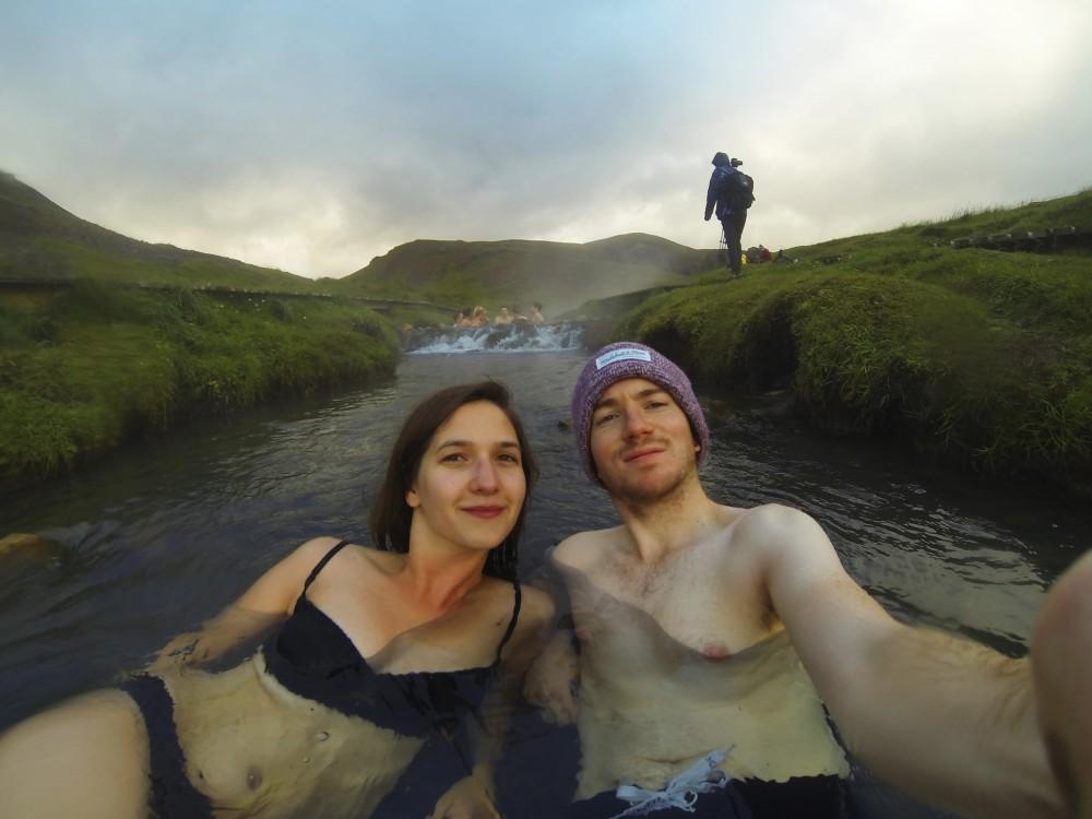 Reykjadalur termálforrás Izland