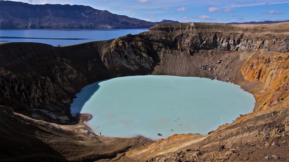 Víti in Askja termálfürdő Izland