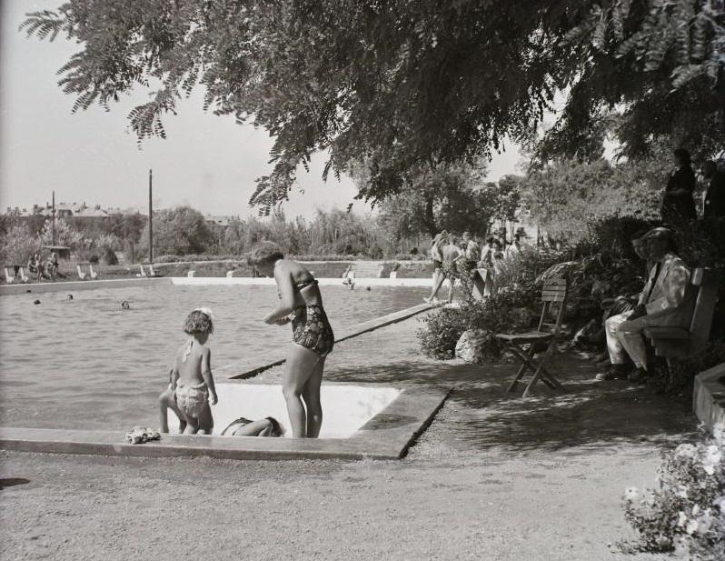 Magyarországi termálfürdő Fortepan