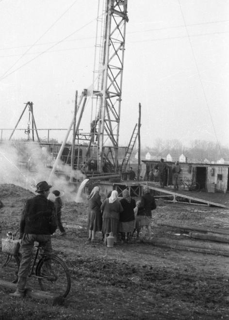 Hajdúnánás termálkút 1958