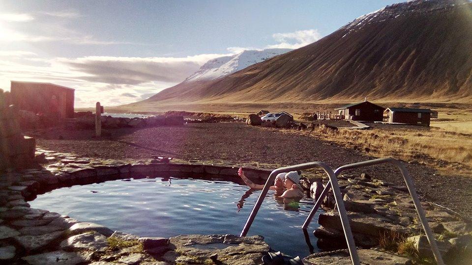 Grettislaug termálfürdő Izland