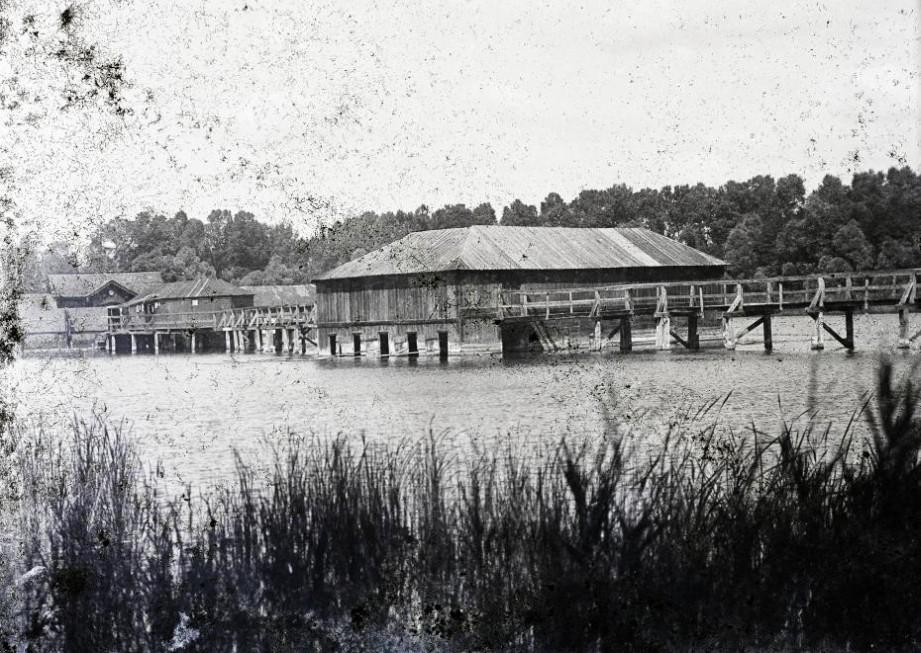 Hévízi-tó 1900