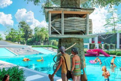 Friss fotók a hatalmas debreceni fürdőfejlesztésről