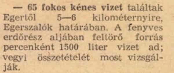 Egerszalók 1962 Népszabadság