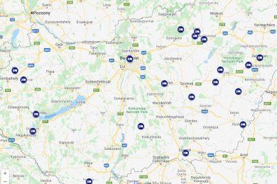 Magyarország gyógyszállói térképen