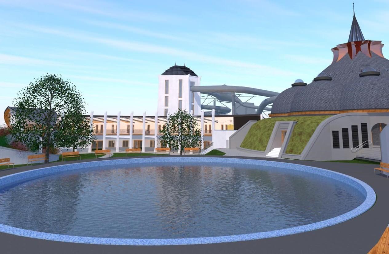 Makó fürdőfejlesztés látványterv