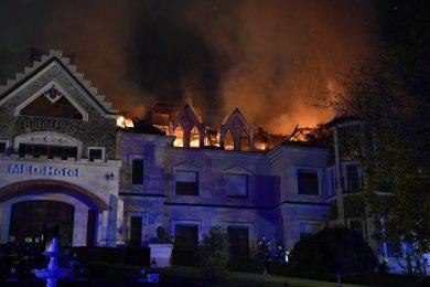 Hatalmas tűz volt egy Debrecenhez közeli termálhotelben